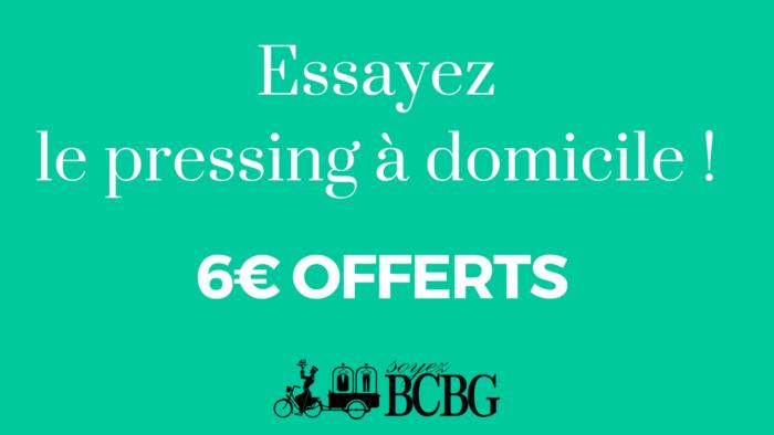 Pressing à domicile : profiter de 6€ offerts pour dès votre inscription